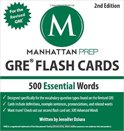 500 Essential Words GRE Vocabulary Flash Cards