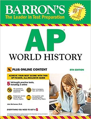 Barron's AP World History, 8th Edition: With Bonus Online Tests