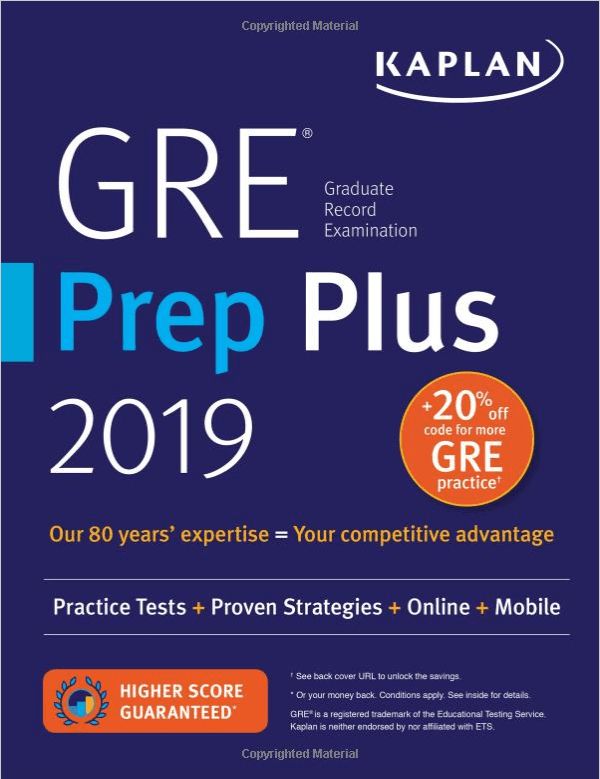 10 best gre prep books for 2019 cracking gre is a piece of cake kaplan gre prep plus 2019 fandeluxe Images