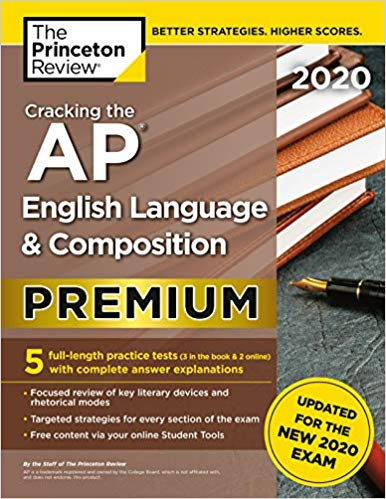 Cracking the AP English Language & Composition Exam 2020