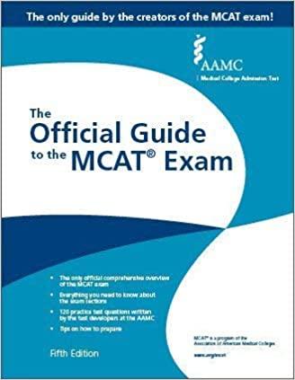Official Guide MCAT Exam