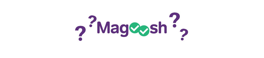 magoosh logo and question marks