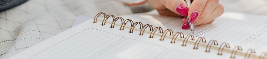 looking through a checklist