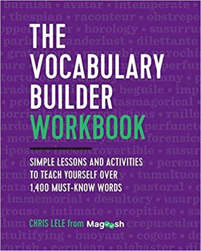 The GRE Vocabulary Builder Workbook