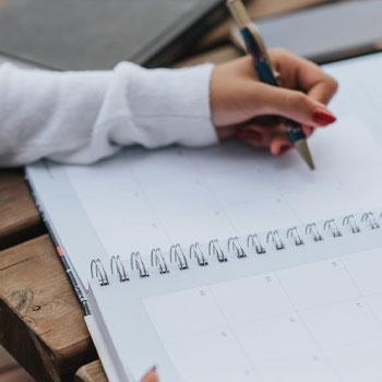 A woman writing SAT essay