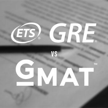 GRE vs GMAT logo