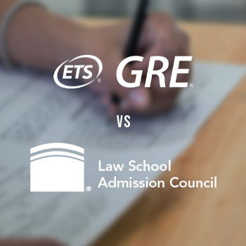 Logos of GRE and LSAT