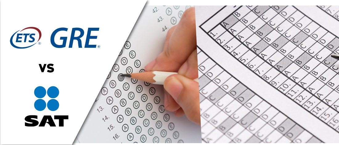 GRE vs SAT answer sheets