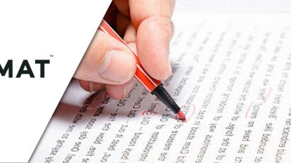 A person revising his GMAT sentences