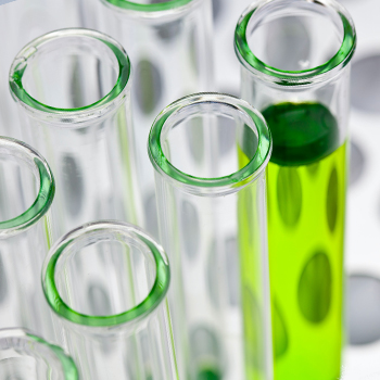 A chemical in a test tube