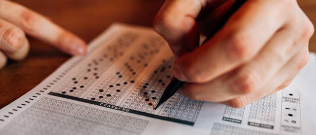 Shading an examination sheet