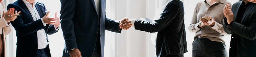 A business deal between two companies