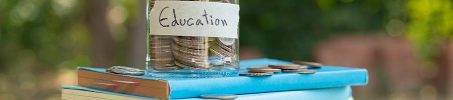 A jar for saving money on education